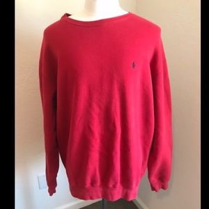 Red Polo brand sweatshirt pull over
